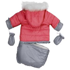 Комбинезон-конверт снеговик коралловый