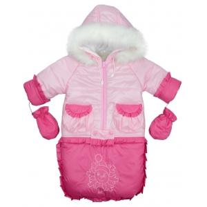 Комбинезон-конверт снеговик розовый