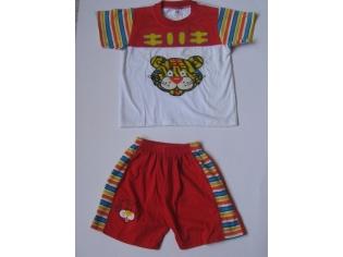 костюм трикотаж №215 тигр красный уценка