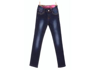 Брюки джинс девочка флис №23282