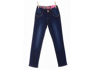 Брюки джинс девочка флис №21262