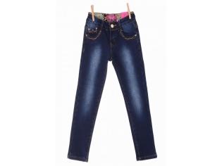 Брюки джинс девочка флис №21263