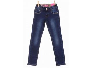 Брюки джинс девочка флис №23281