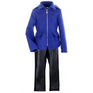 Пальто девочка № 3006S синее
