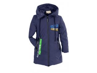 Куртка девочка №66-366 синяя