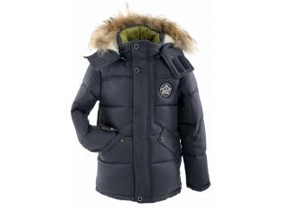 Куртка мальчик №6-705 темно-синяя