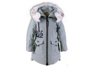 Куртка девочка №66-361 серая
