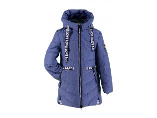 Куртка девочка №66-336 синяя