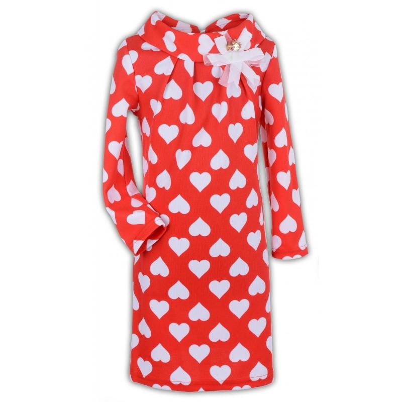 Платье № 1519 красное