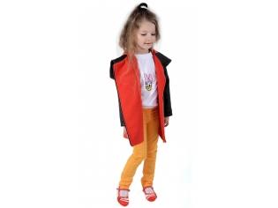Пальто девочка № 3037S красное
