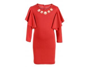 Платье № 15602 красное