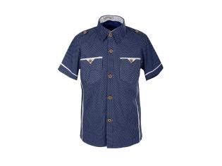 Рубашка мальчик №80 синяя