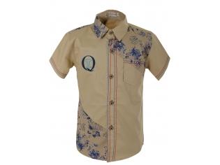 Рубашка мальчик №117 бежевая