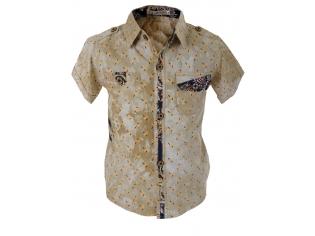 Рубашка мальчик №133 бежевая