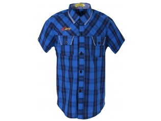 Рубашка мальчик №129 синяя