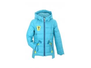 Куртка девочка №66-281 голубая