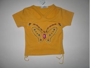 футболка  №00708 жёлтая РАСПРОДАЖА