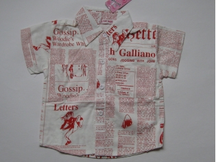 рубашка №1217 красная