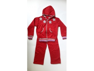 спортивный костюм флис красный