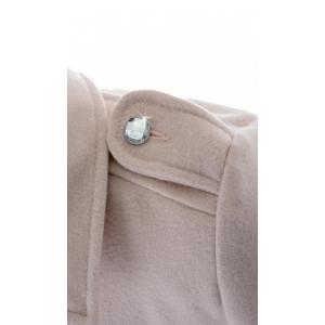 Пальто девочка № 3006S пудра