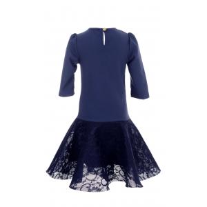Платье № 1626 синее