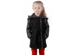 Пальто девочка № 3037S черное