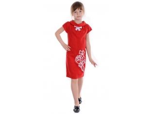 Платье № 1518 красное