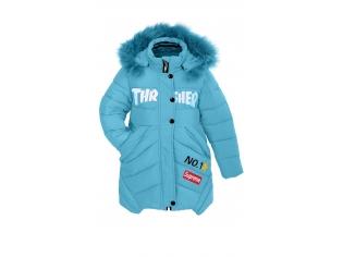 Куртка девочка №K-1614 голубая