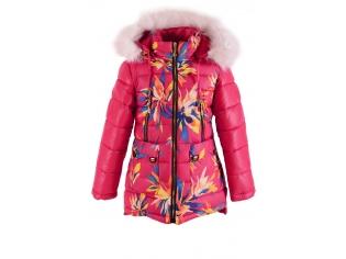 Куртка девочка №16-19 малиновая