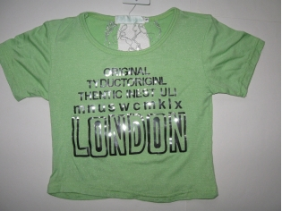 футболка  №528  зелёная распродажа (опт - скидка 35%)