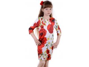 Платье № 1528 маки
