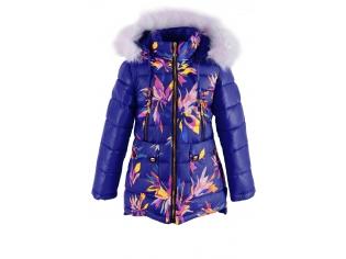Куртка девочка №16-19 синяя