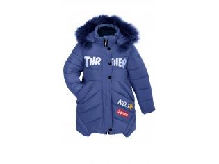 Куртка девочка №K-1614 синяя