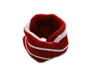 Шарф-хомут двойной красный