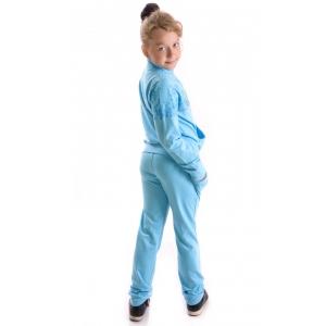 Костюм девочка №3156 голубой