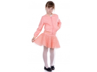 Куртка девочка № 15332 персиковая