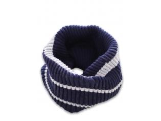 Шарф-хомут двойной синий