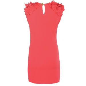 Платье № 1540 коралловое