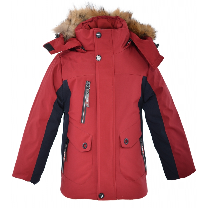 Куртка на мальчика красная