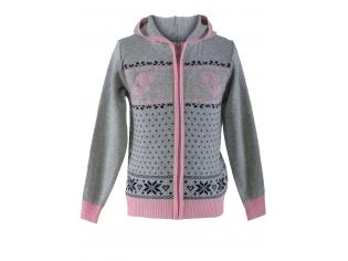 Кофта девочка №Xikah розово-серая