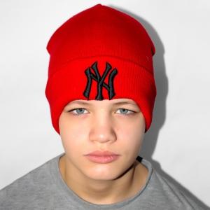 Шапка New York красная