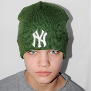 Шапка New York зеленая