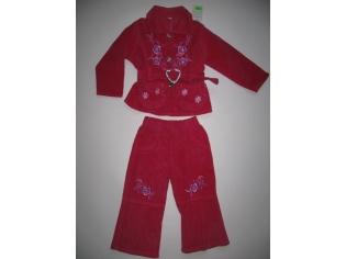 костюм вельвет двойка №200215 малиновый РАСПРОДАЖА
