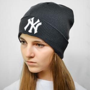 Шапка New York темно серая