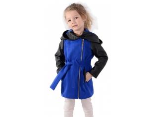 Пальто девочка № 3037S синее
