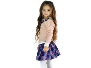 Свитер девочка №0812216 персиковый