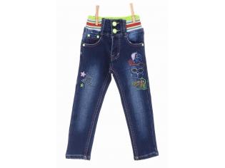 Брюки джинс девочка флис №6617