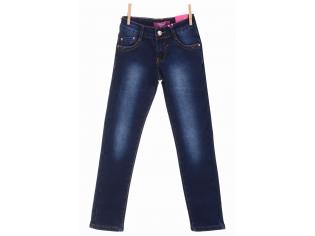 Брюки джинс девочка флис №23286
