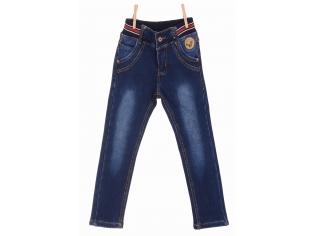 Брюки джинс мальчик флис №8805