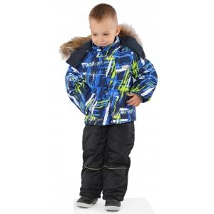 Костюм зимний на мальчика светло синий